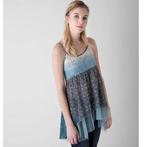 Gimmicks by BKE Dip Dyed Layered Tank